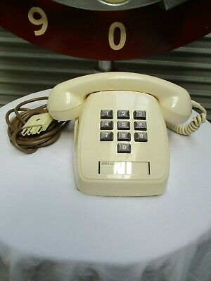 1979 Retro BONE Telephone 805 - Tested & Working. 10 Button Type. Fantastic Cond
