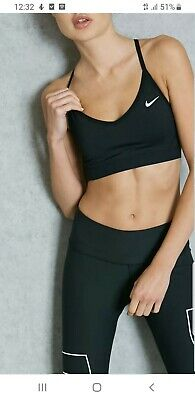 Womens Nike light support bra black in color size XL New