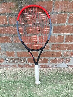 Tennis Racqet Wilson Clash 100 Tour Grip 3 with hybrid string set up.