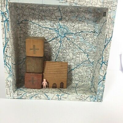 Original Shadow Box Art Work Mixed Media Naked Tourist Visits Norwich Cathedral