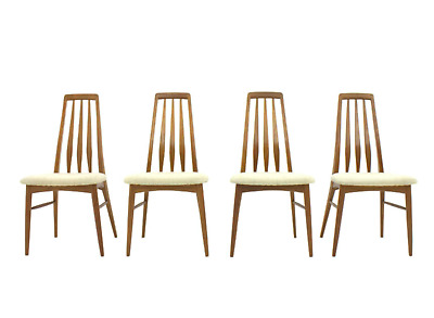 Set from 4 Teak Chairs Eva, Niels Koefoed for Hornslet, Denmark 60s 60er Chairs