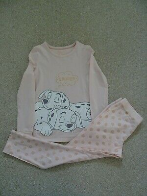 Girl's Disney Dalmatians Pyjama's from Marks and Spencer Age 7-8 Years