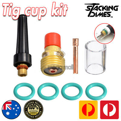 """8 Pcs TIG Welding Gas Lens #10 Pyrex Cup Kit For Tig WP9 WP20 WP25 Torch 3/32"""""""
