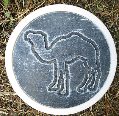 """Camel stepping stone mold concrete plaster resin casting mould 12"""" x 1.5"""""""