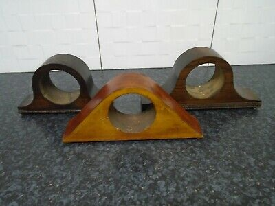 X3 Vintage old Small Mantel Clock Cases for spares repairs parts collectable