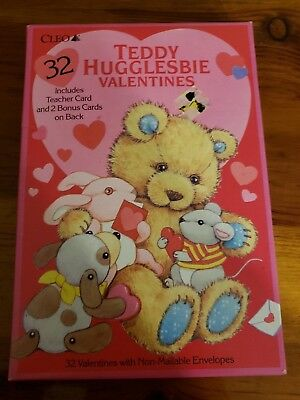 VINTAGE NOS SESAME STREET  VALENTINES DAY CARDS 36  IN BOX 1992 GIBSON NEW
