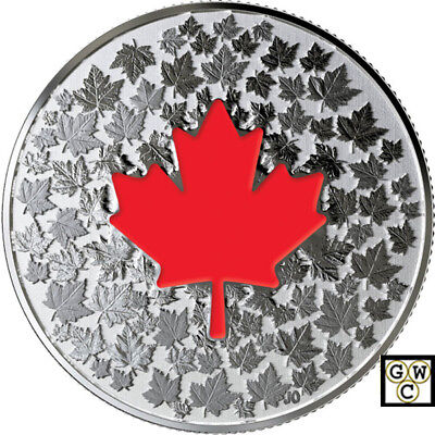 2018'Hearts Aglow' Glow-in-the-Dark Color $5 Silver Coin 1/4oz .9999Fine(18467)