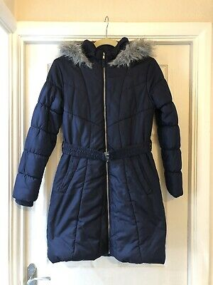 Girls Padded Fleece Lined Coat From Bluezoo At Debenams Age 13-14 Years