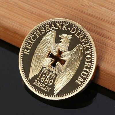 1pc German Bank Commemorative Coins Challenges Valuable Gold-plated Crafts