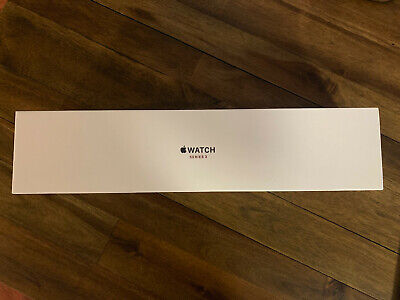 APPLE Watch Series 3 GPS 42mm Silver Aluminum Case White Sport Band - BRAND NEW!