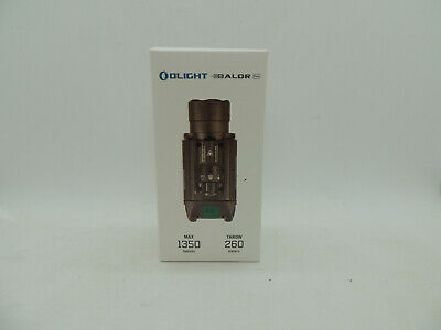 Olight Baldr Pro 1350 Lumens Light with Green Laser Sight, Desert Tan