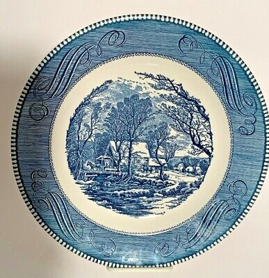 "Vintage Currier and Ives Royal China Dinner Plate The Old Grist Mill 10""-Excel."