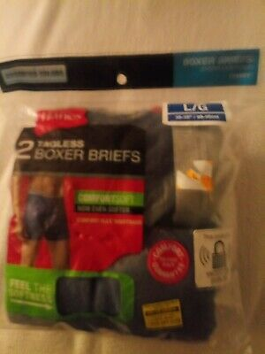 Hanes Tag less Boxer Briefs 2 Pack Mens Assorted Colors & Bands!! Size Large