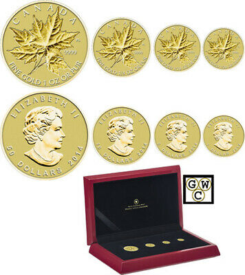 2014 'Gold Maple Leaf' 4-Coin Set .9999 Fine (13308) (OOAK)