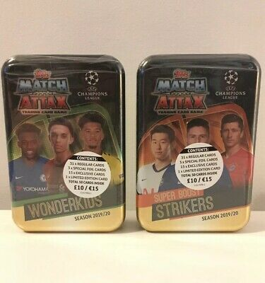 Match Attax 19/20 - X2 Mega Tins 2019/20 With Limited Edition Cards