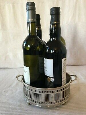 Stunning Large Vintage Silver Plated Wine Bottle Holder/Stand