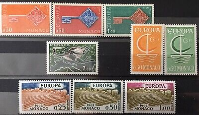 Monaco Small Collection of Europa CEPT Issues MNH, Good CV