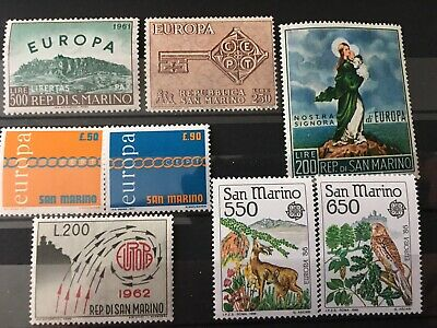 San Marino Small Collection of Europa CEPT Issues MNH, Good CV