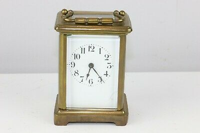 Antique French John Wanamaker Brass Carriage Clock - Excellent