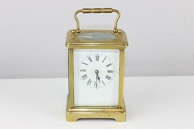 Antique French Brass Carriage Clock Marked D.h - Excellent