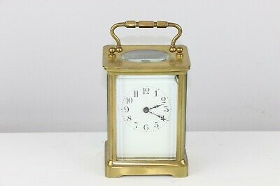 Antique French H&H Brass Carriage Clock - Excellent