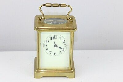 Antique French Brass Carriage Clock Marked 539 On The Door - Excellent