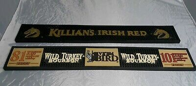 Wild Turkey Bourbon and Killian's Irish Red Bar Spill Mats , Used.