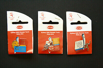 Sydney 2000 Olympic Pin - Torch Relay Pins x3