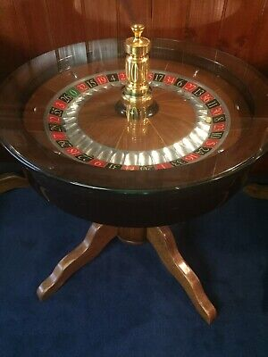 Genuine Crown Casino Roulette Wheel Coffee Table - Man Cave Must
