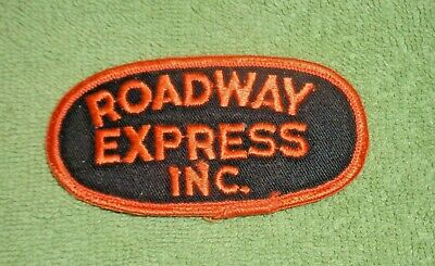 Roadway Express Inc Embroided Patch- Oval Shaped- Orange and Black