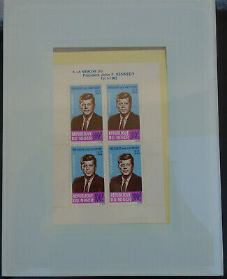 Rare Vintage Block of FOUR John F Kennedy Issue Stamps From Niger