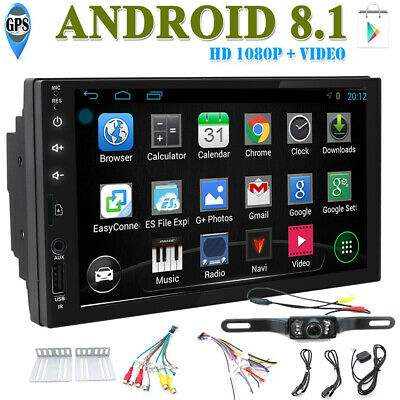 Backup Camera&GPS Double 2*Din Car Stereo Radio NO DVD Player Bluetooth with Map