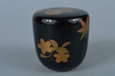 K4960: Japanese Wooden Lacquer ware TEA CADDY Natsume Chaire Tea Ceremony