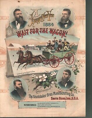 Wait For The Wagon Studebaker Advertisement Sheet Music