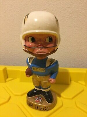 San Diego LA Chargers AFL EarPad Series Vintage Bobblehead Nodder Extremely Rare