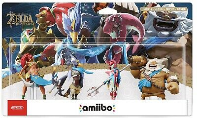 Pack Amiibo Zelda 4 Personnages Breath Of The Wild - Neuf Scellé Jamais Ouvert