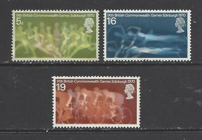 British stamps 1970 9th Commonwealth games SG832-SG834 full mint set GB.
