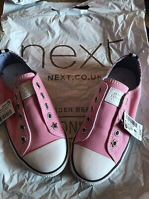 BNWT Girls Next Pink Canvas Shoes Size 12