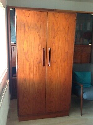 Mid Century G-Plan Teak Gentleman's Wardrobe fantastic grain to doors