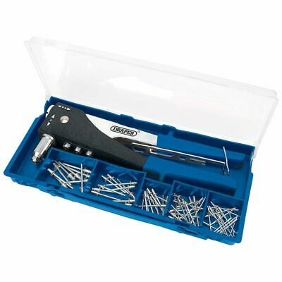Draper Tools Kit de Riveteuse à 2 Voies à Main Pince à Riveter Bleu 27848