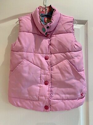 Beautiful Pink Joules Girls Gillet Age 7