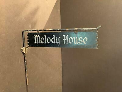 MELODY HOUSE iron sign, c. 1940