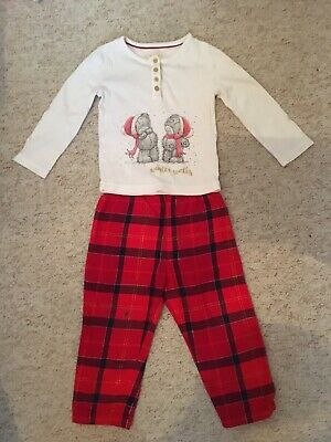 Girls Age 2-3 Me To You Christmas Pjs From M&S