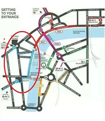 2 x London NYE Fireworks Blue Zone New Year's Eve 31st Dec  BEST VIEW