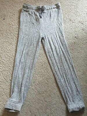 girls grey jogging bottom style trousers age 5-6 years from river island