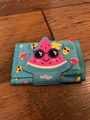 Smiggle girls / childrens purse / wallet with Blue Watermelon design