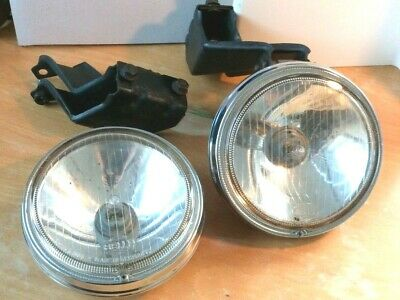 Vintage Classic Hella Spot Lamps 135 Mm Lens. Drop Mounting With Custom Brackets