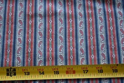Paisley Striped Quilting By 1//2 Yd Andover//Morton//Providence//3884 G B193