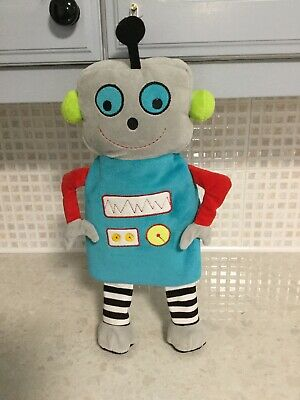 """Kids Hot Water Bottle With Plush Robot Cover Length 17.5"""" Wide 7.5"""""""