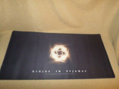"Ninjas in Pyjamas 31"" by 16"" XL extra Large Field Mousepad Mouse Pad w/ LOGO"